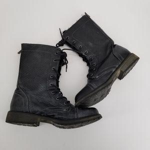 Roxy black motorcycle boots Seattle 4 Sz 9